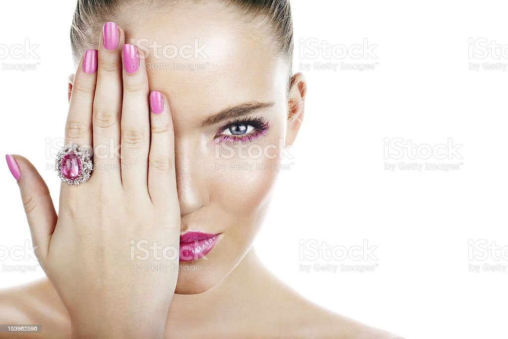 woman with ring royalty-free stock photo