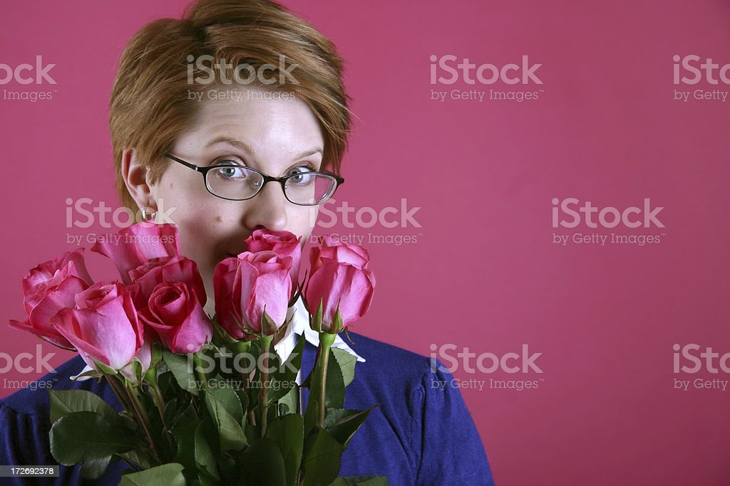 Woman with Roses royalty-free stock photo