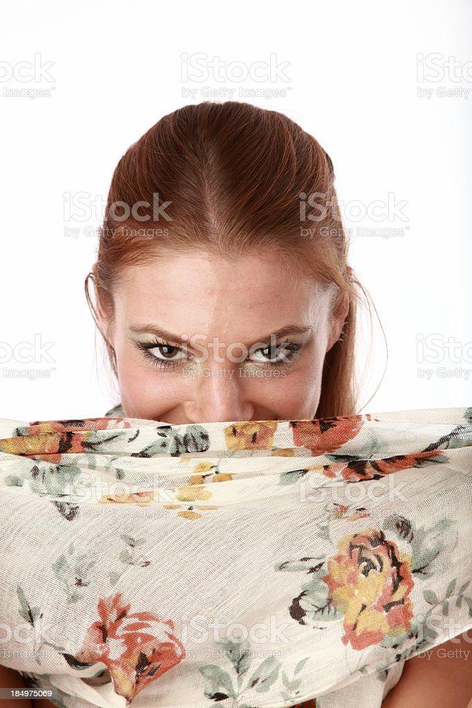 Mujer con pañuelo foto de stock libre de derechos