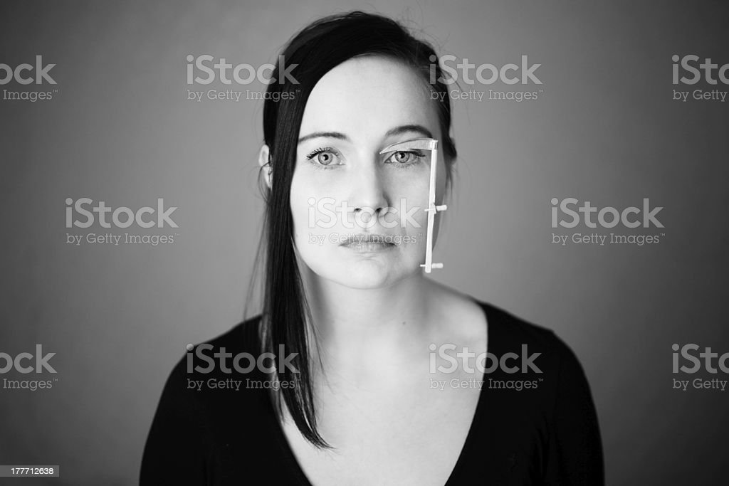 Woman with scythe royalty-free stock photo