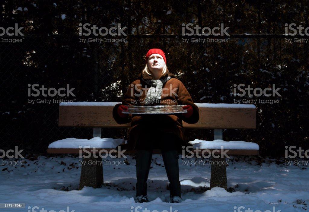 Woman with Seasonal Affective Disorder (SAD) stock photo