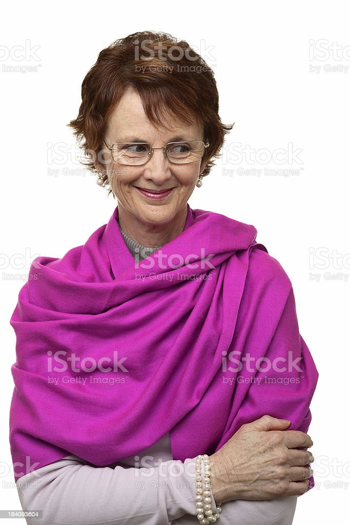 Woman with Shawl stock photo