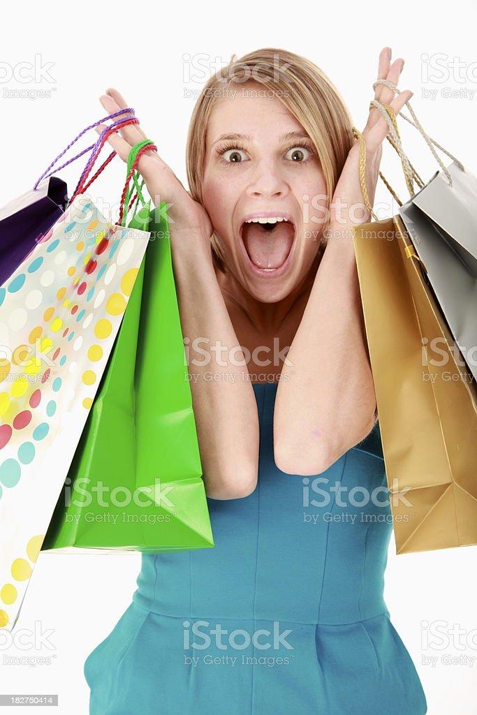 Mujer con bolsas de compras foto de stock libre de derechos