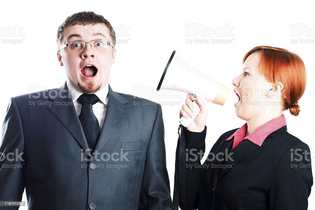 Mujer con shout foto de stock libre de derechos