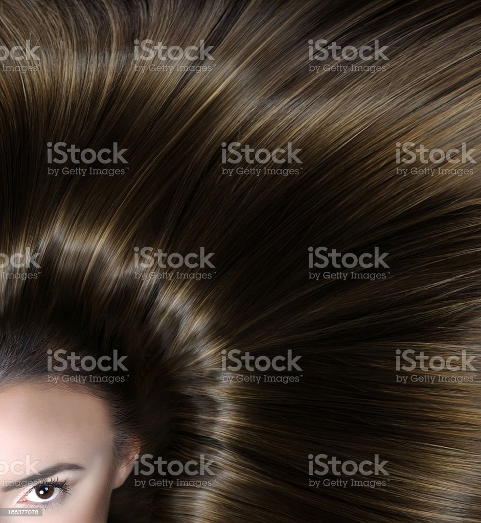 woman with straight hair royalty-free stock photo