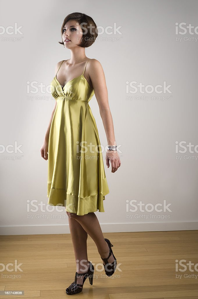 Woman With Strong Pose royalty-free stock photo