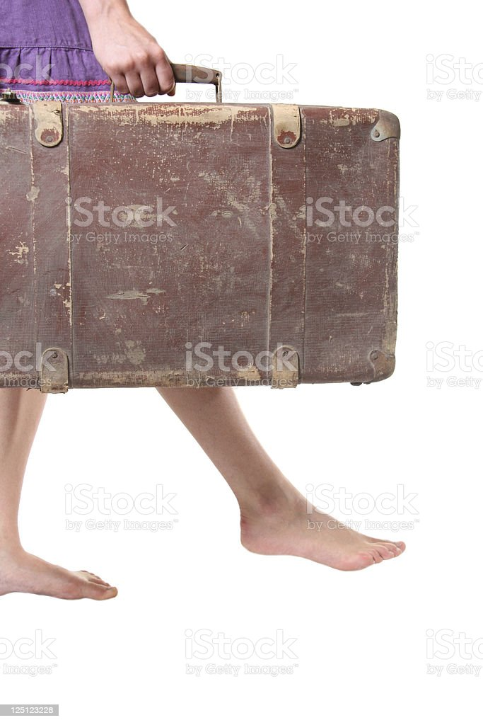 woman with suitcase royalty-free stock photo