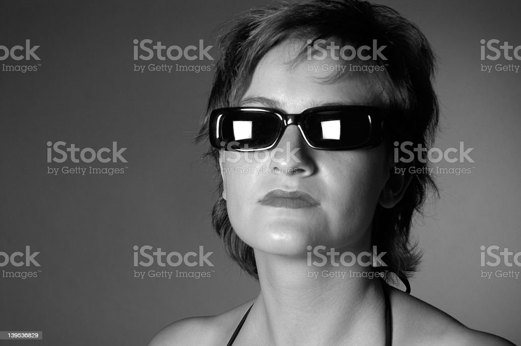 woman with sunglasses II royalty-free stock photo