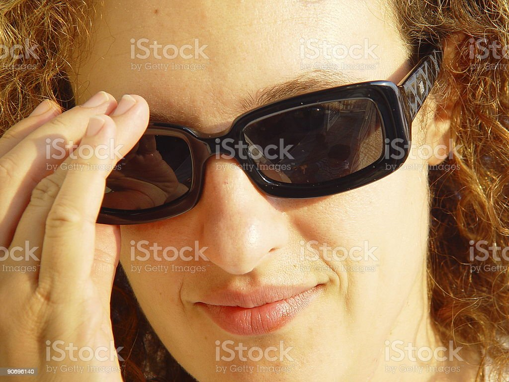 Woman with sunglasses royalty-free stock photo