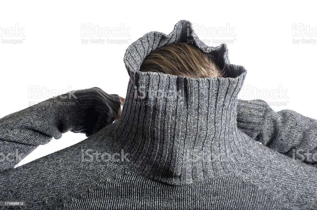 Woman with sweater royalty-free stock photo