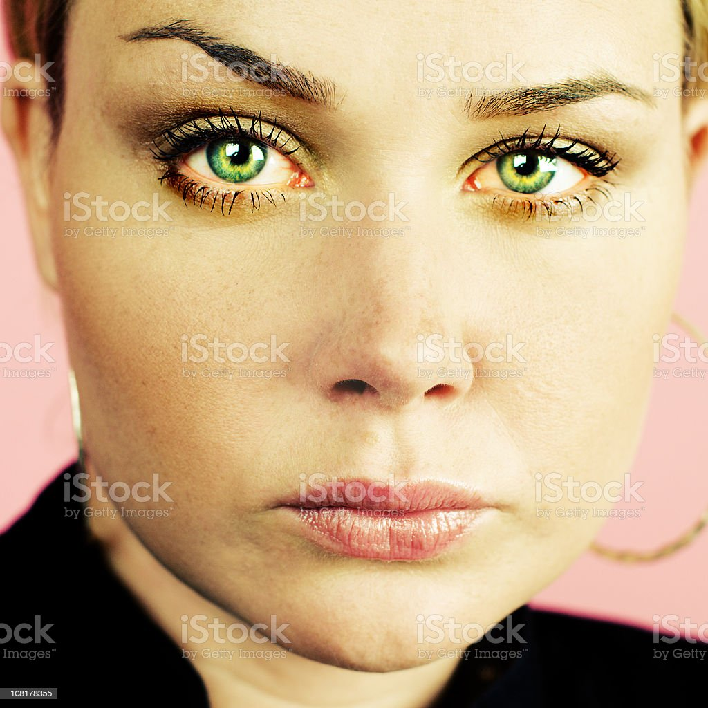 woman with tears in her eyes royalty-free stock photo
