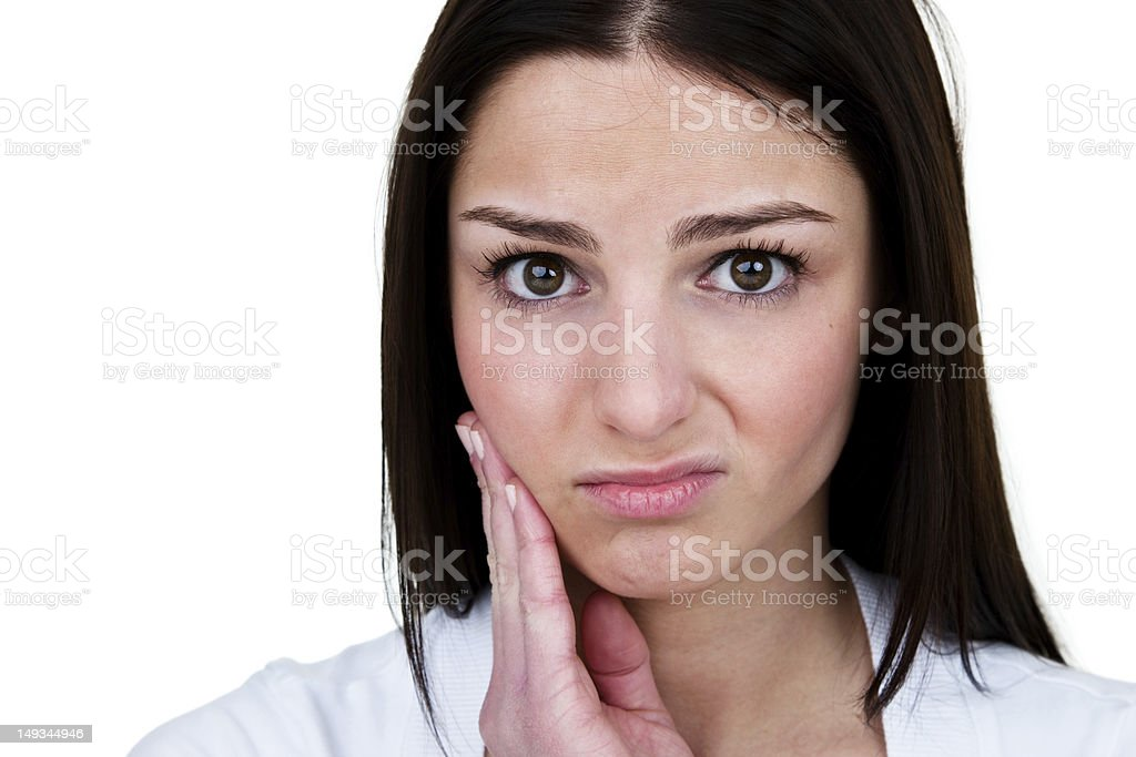 Woman with toothache royalty-free stock photo