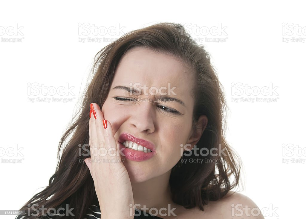 woman with toothache stock photo