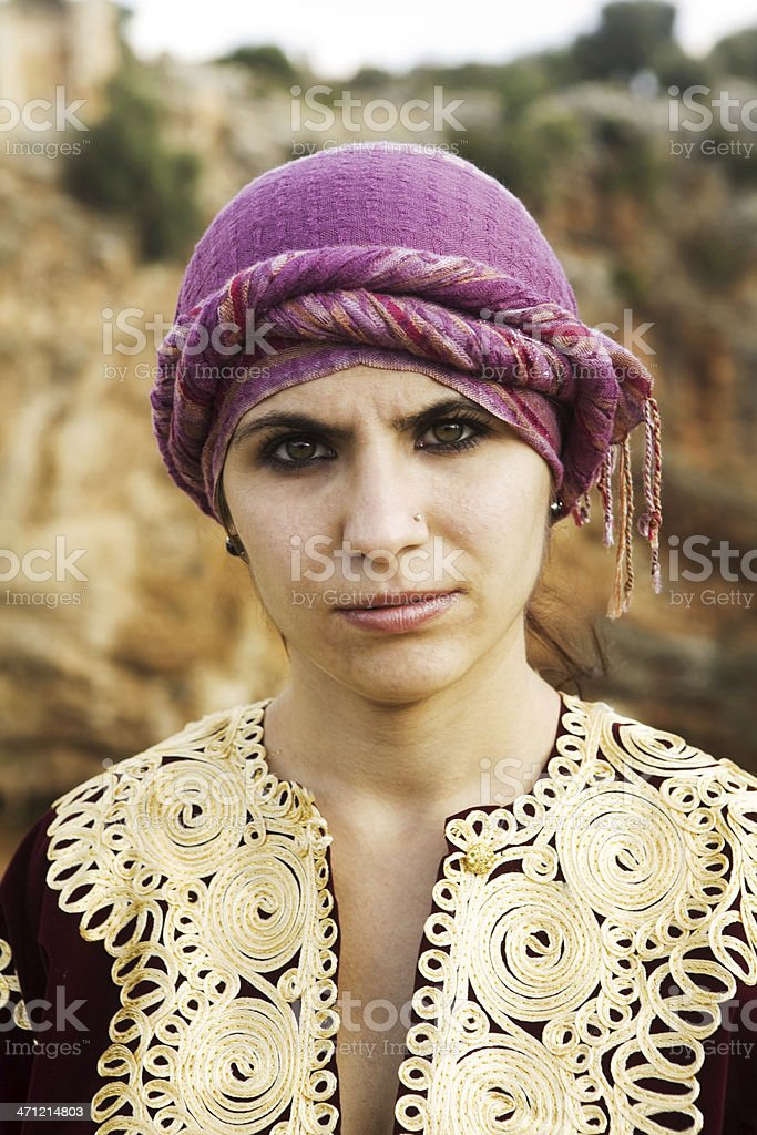 Woman with traditional clothing royalty-free stock photo
