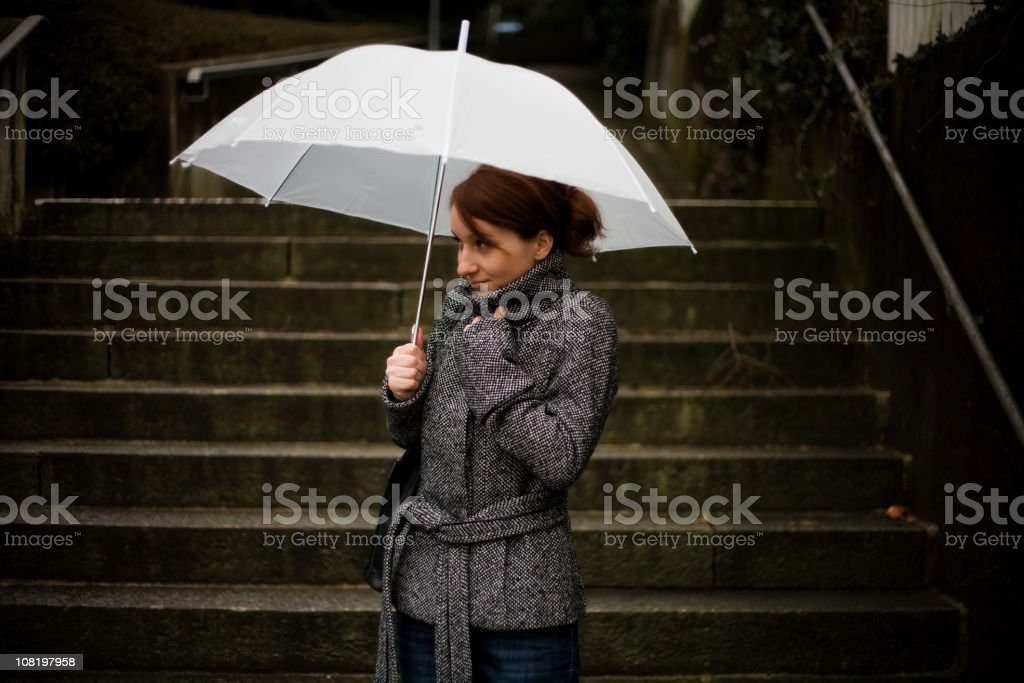 Woman with Umbrella royalty-free stock photo