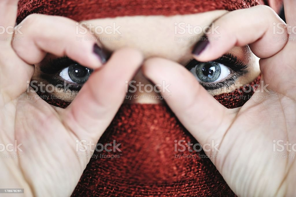 Woman with veil royalty-free stock photo
