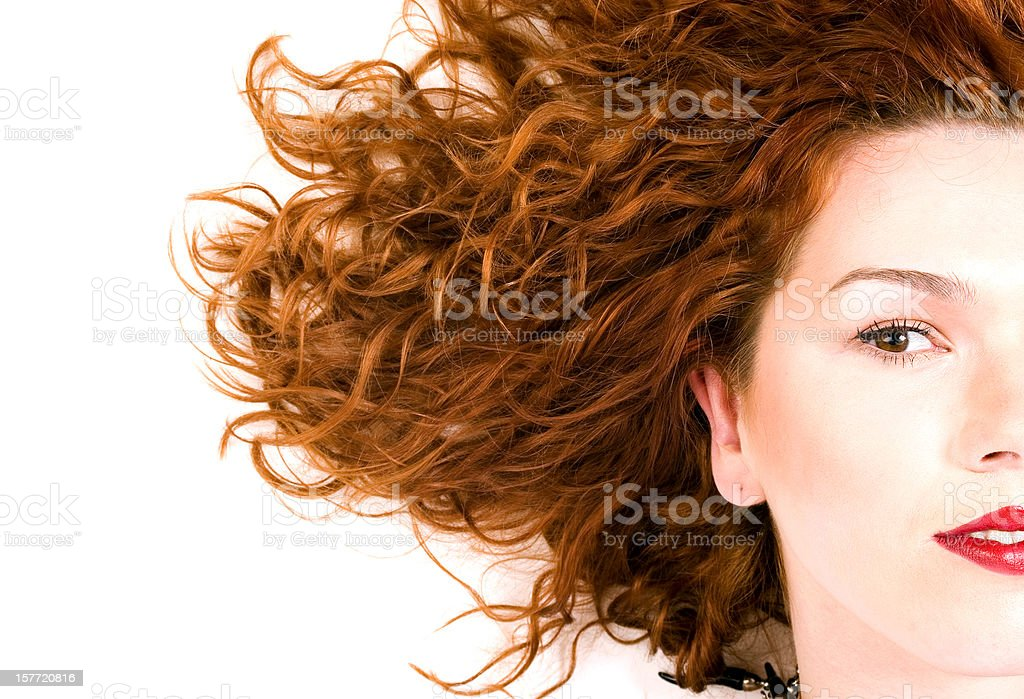 Woman with Wavy Hair royalty-free stock photo