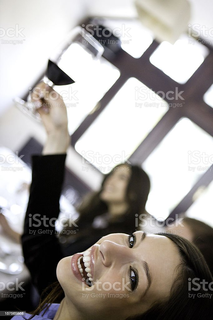 Woman with wine royalty-free stock photo