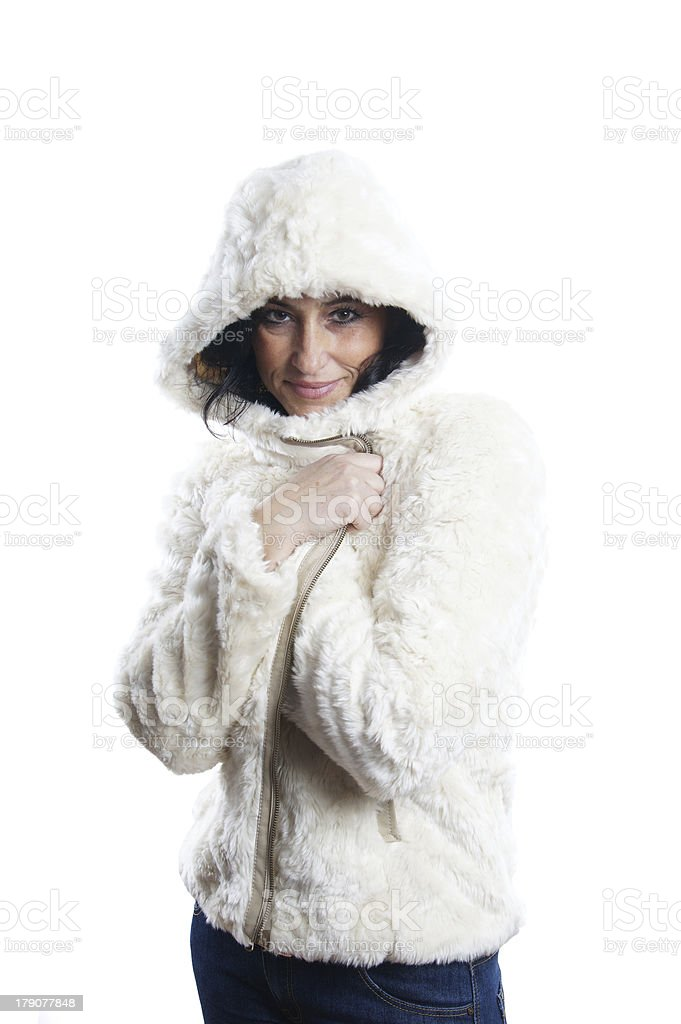 woman with winter jacket royalty-free stock photo