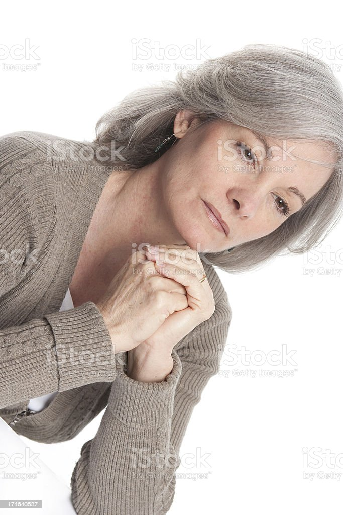 Woman with Worries royalty-free stock photo