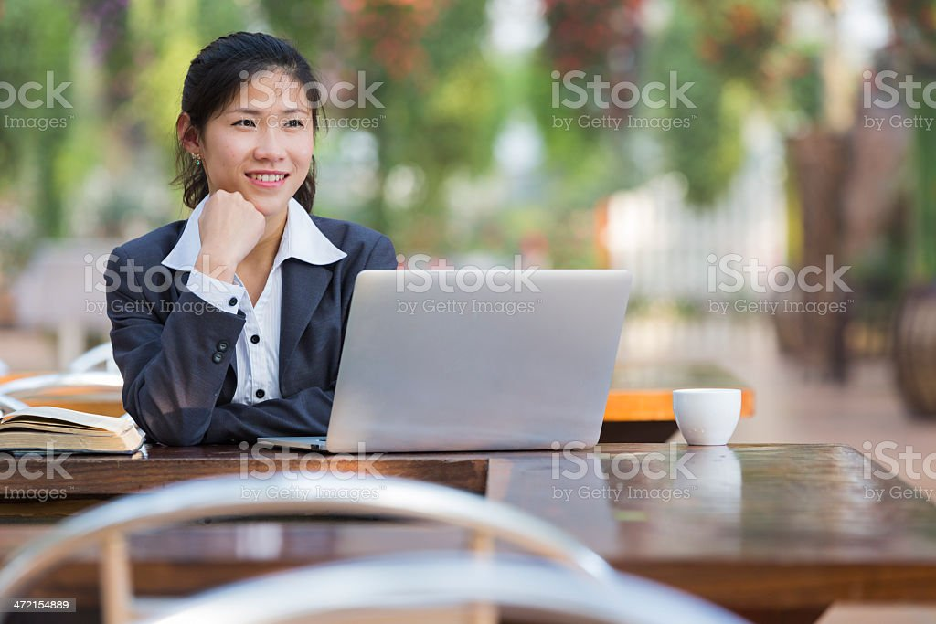 woman work at garden royalty-free stock photo