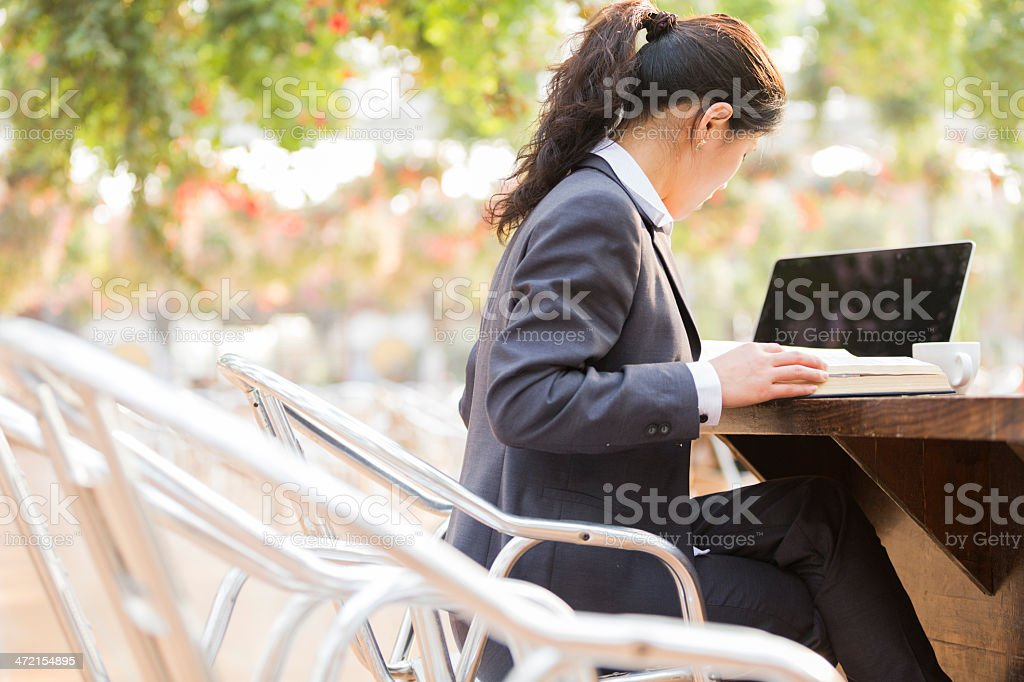 woman work at garden royalty-free stock photo