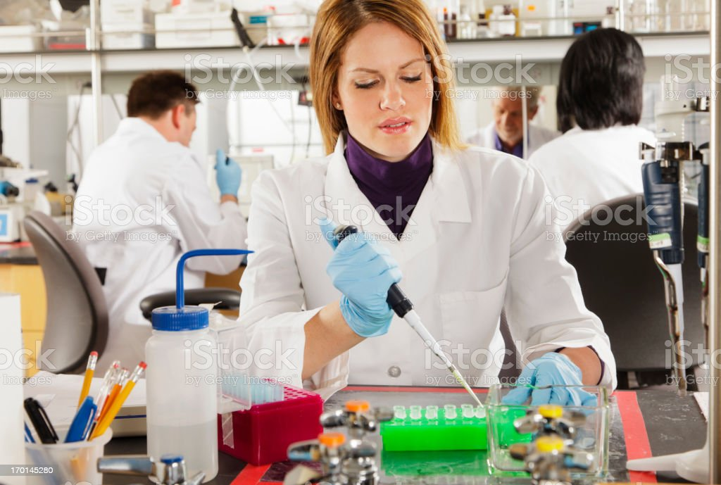 Woman Worker in a Laboratory royalty-free stock photo