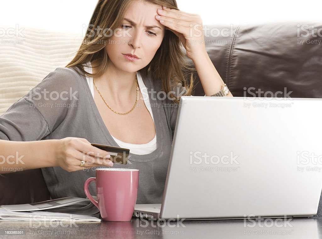 Woman working at home. royalty-free stock photo