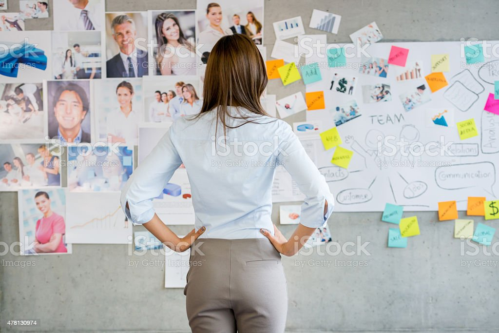 Woman working in a creative business stock photo