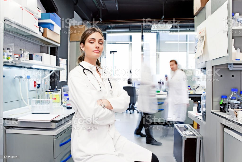 Woman working in a laboratory royalty-free stock photo