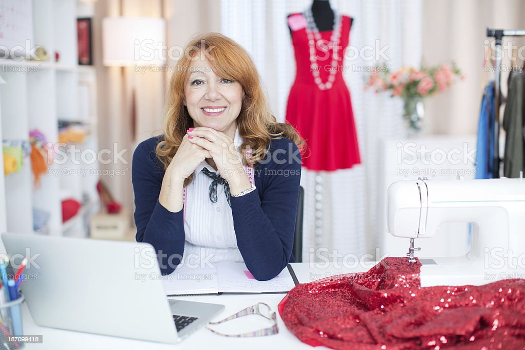 Woman working. royalty-free stock photo