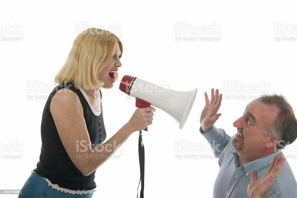 Woman Yelling At Man royalty-free stock photo