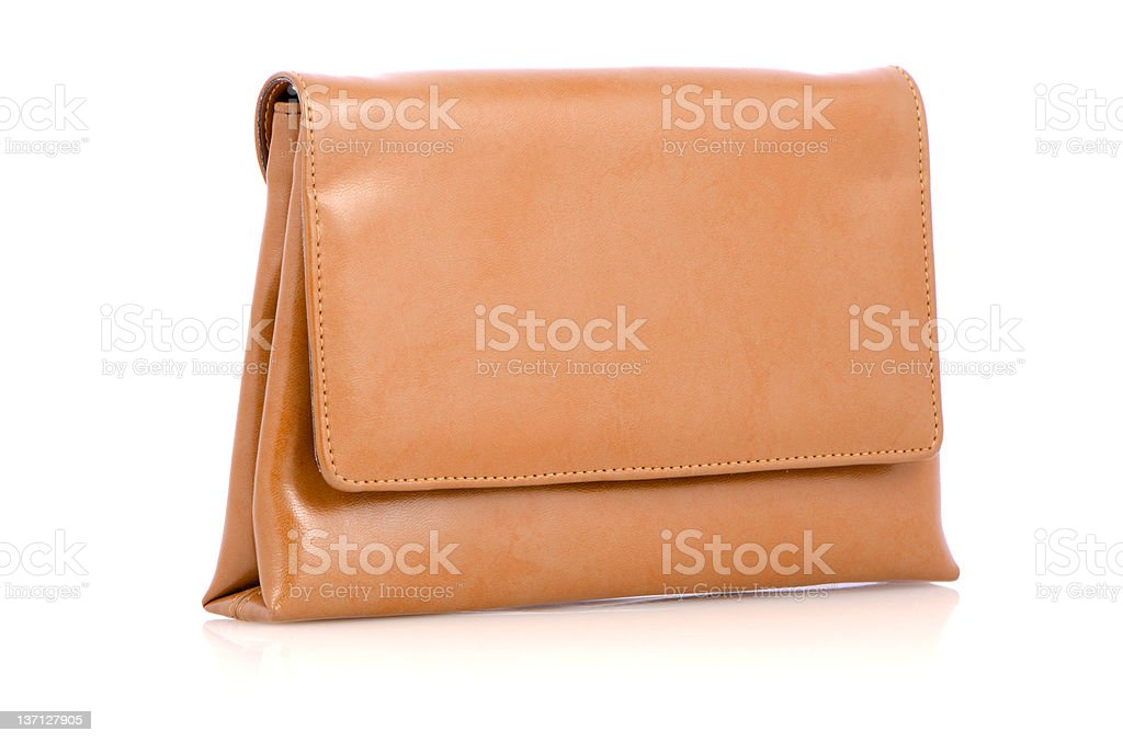 Woman yellow bag stock photo