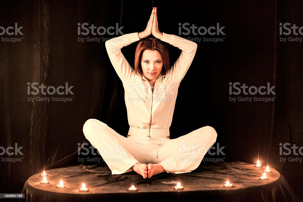 Woman Yoga Instructor stock photo