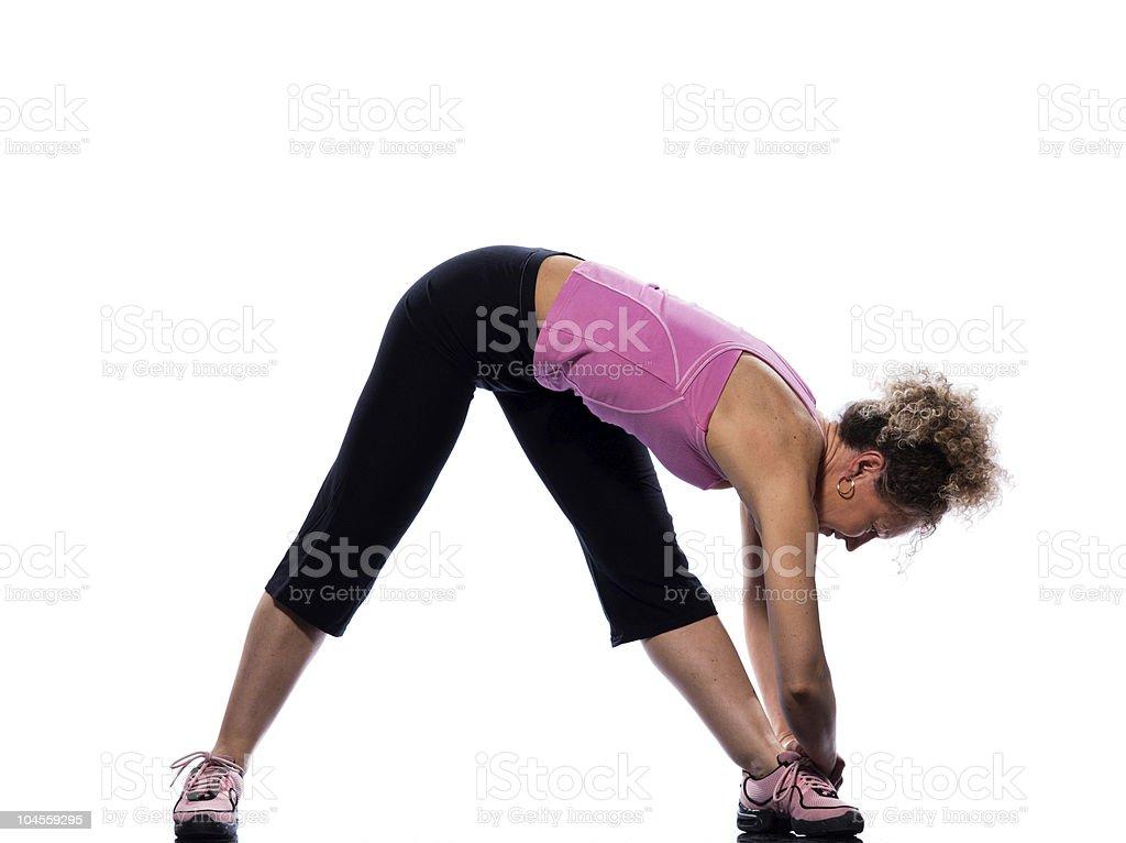 woman yoga Parsvottanasana stretching posture workout royalty-free stock photo
