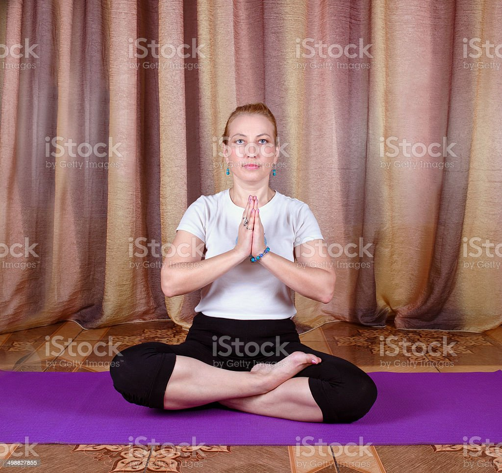 Woman yogi stock photo