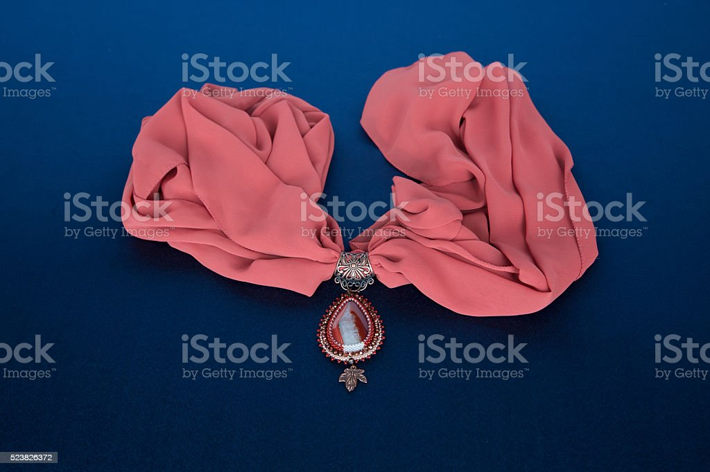 Womanish decoration on a neck royalty-free stock photo