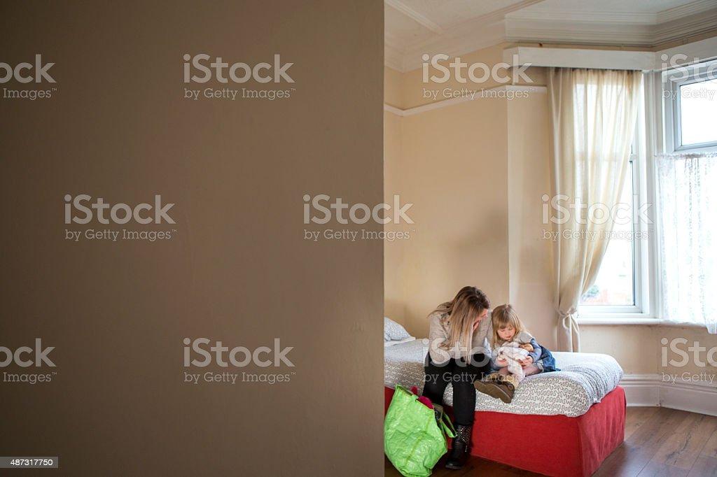 Woman's Aid stock photo
