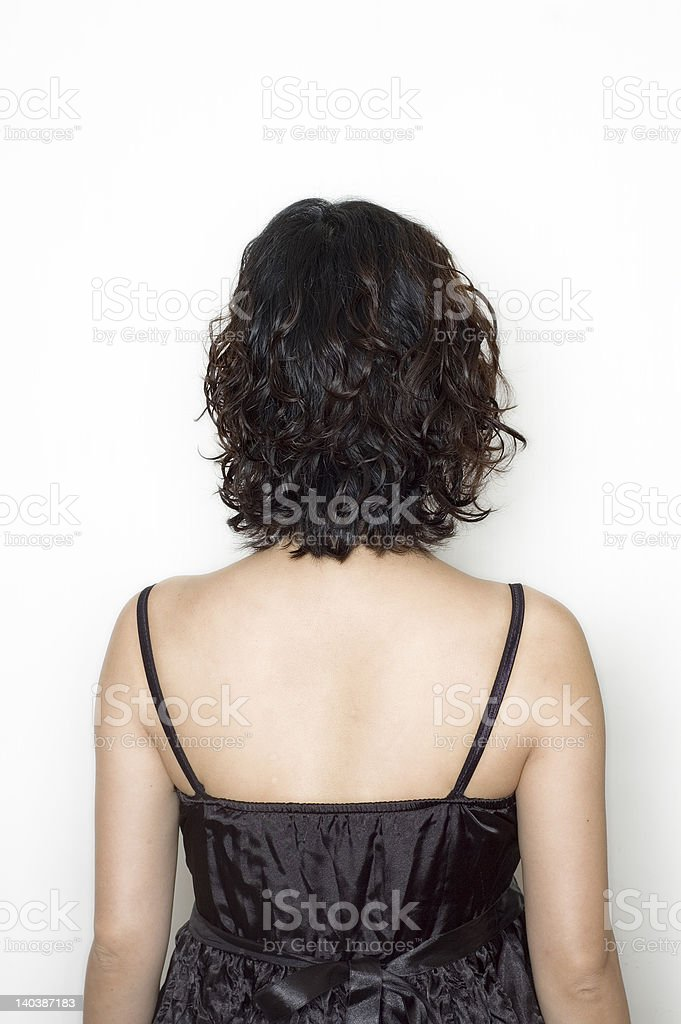 womans back royalty-free stock photo