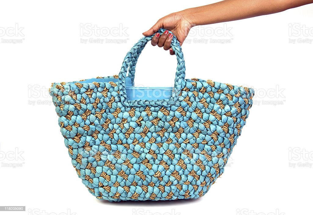 Woman's beach bag royalty-free stock photo