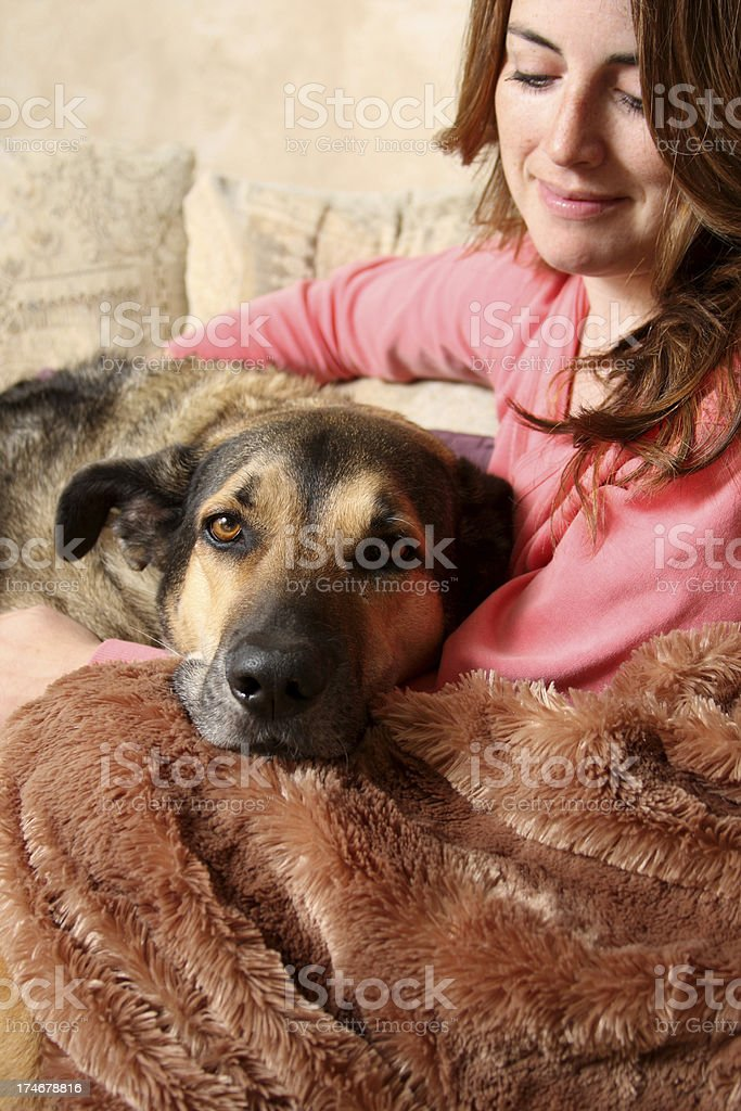 Woman's Best Friend royalty-free stock photo