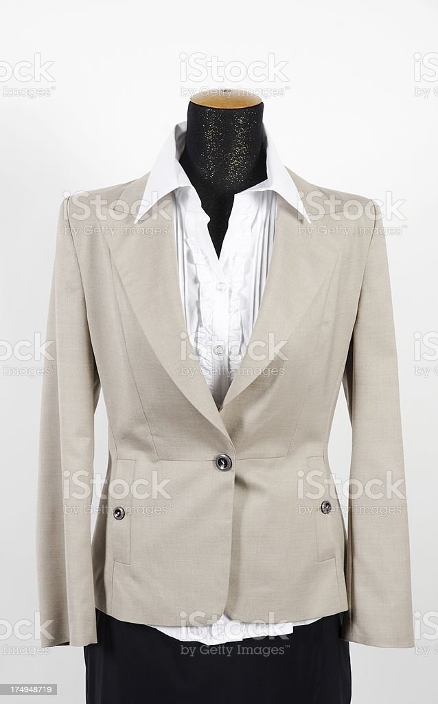 Woman's blazer on mannequin, isolated royalty-free stock photo
