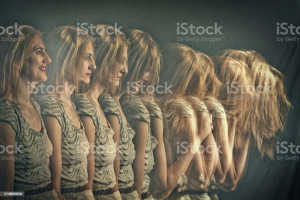 Woman's Changing Emotions stock photo
