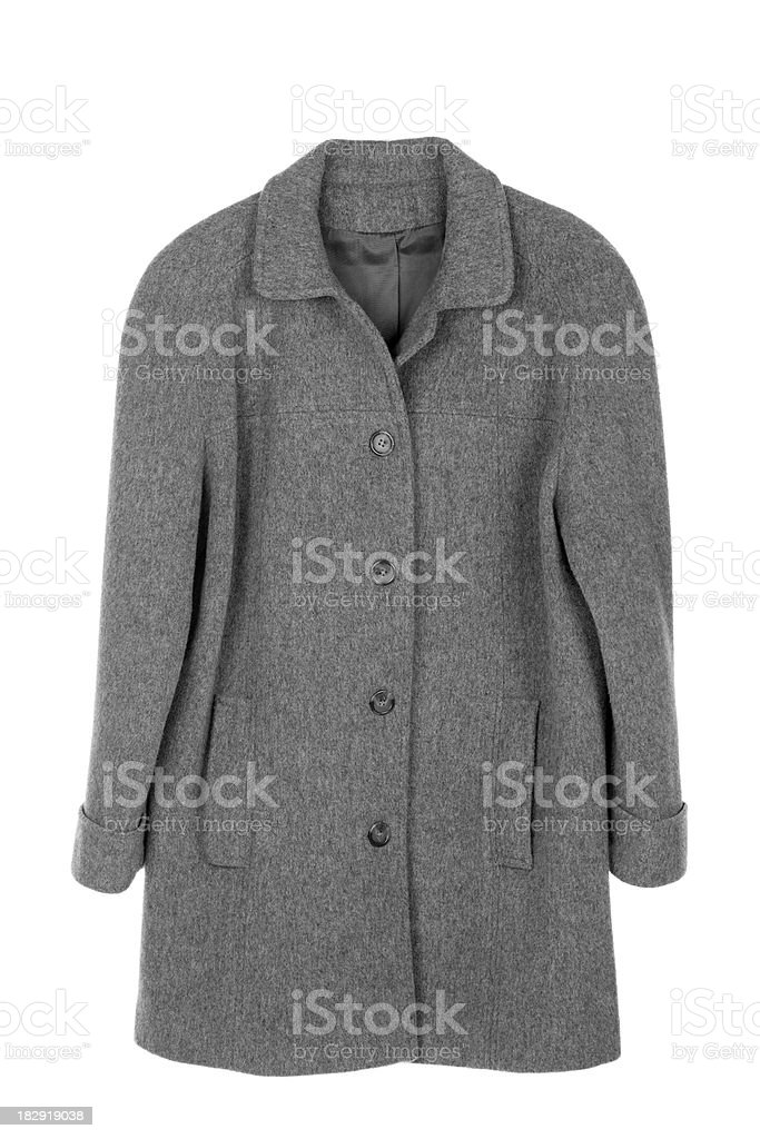 Woman's Coat Isolated stock photo