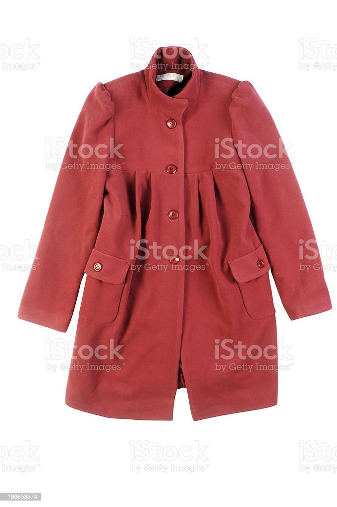 Woman's Coat Isolated stock photo