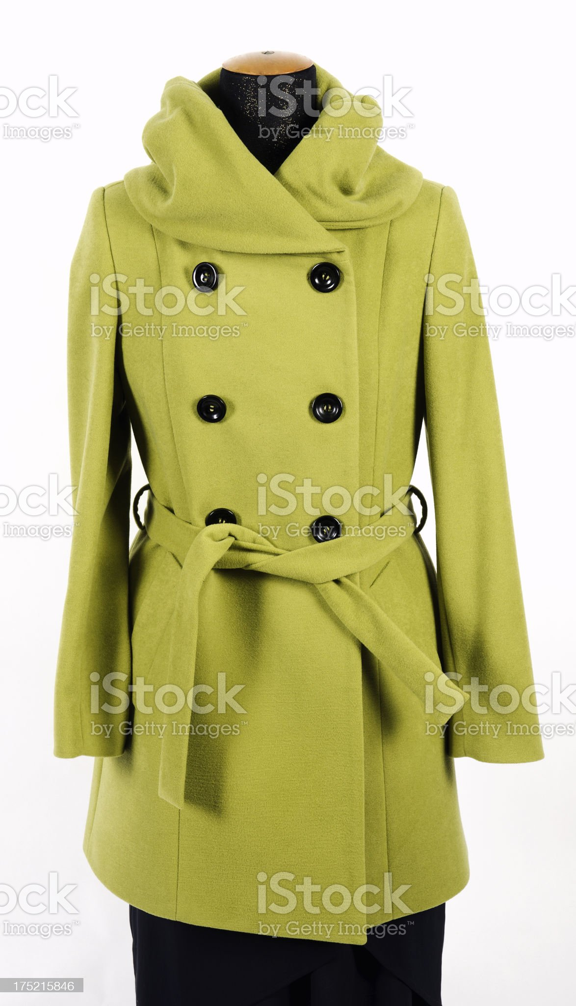 Woman's coat on mannequin, isolated royalty-free stock photo