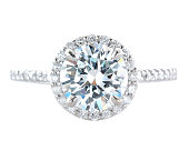Woman's Diamond and Platinum Wedding Ring