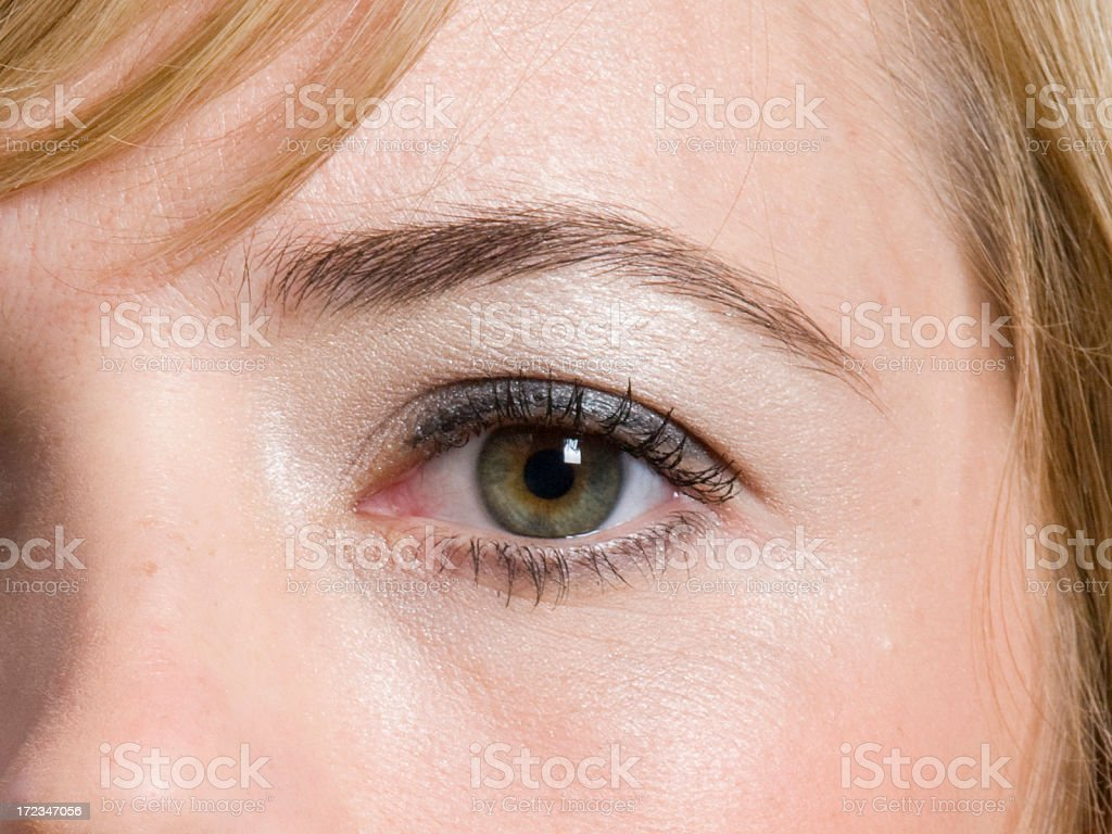 womans eye, close royalty-free stock photo