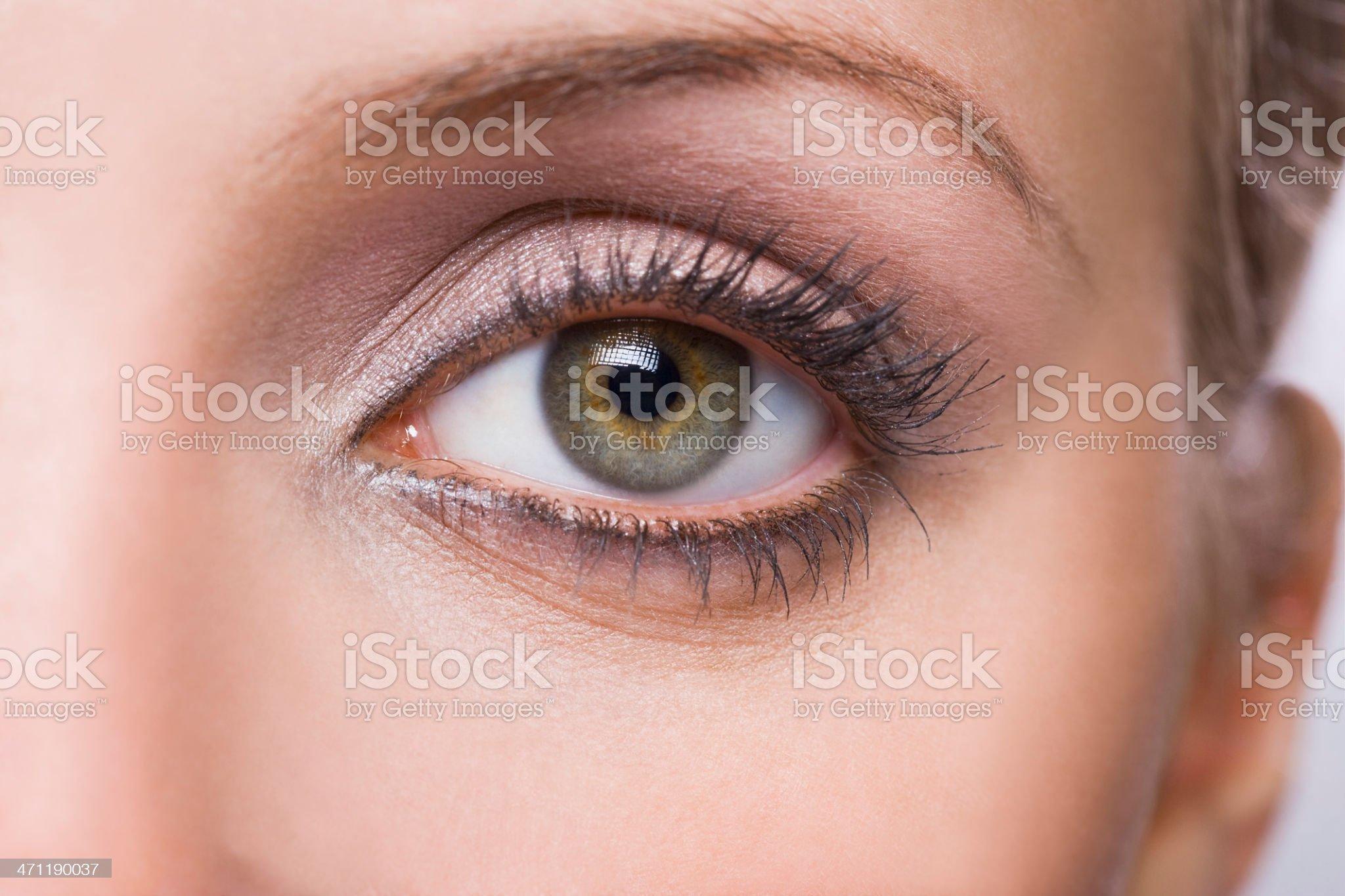 Woman's eye royalty-free stock photo