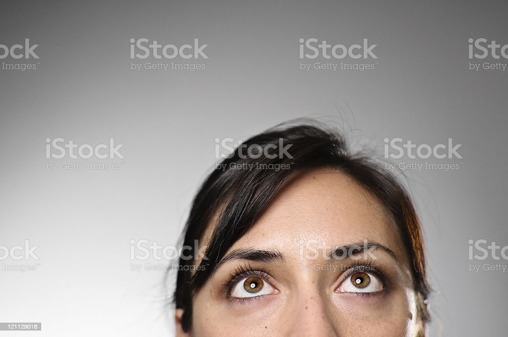 Woman's Eye's Looking Up stock photo